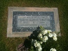 Stopped by Sinatra's grave to pay my respects and leave flowers.