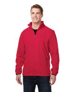Mens polar slash zippered fleece jacket with pockets. Tri mountain F7608  #zipper #JacketWithPockets #Jacket