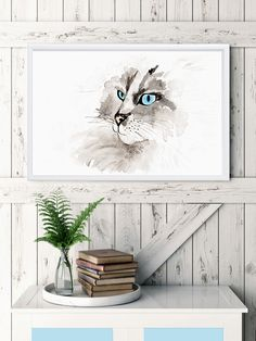 "Watercolor ""Blue Eyed"""