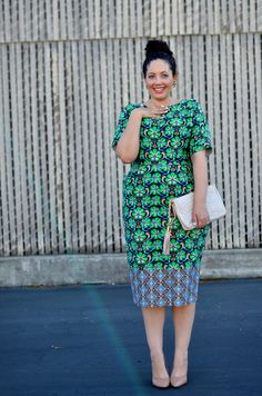 Floral sheath dress | Girl With Curves