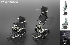 Pegasus – Upright WheelChair by Porsche Design Studio Pegasus Models, Mobiles, Scooter Custom, Honda, Powered Wheelchair, Adaptive Equipment, Used Chairs, Mobility Aids, Yanko Design