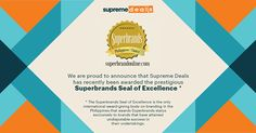 Thanks to all your continued support, Supreme Deals is proud to be a Superbrand company! Be Proud, Philippines, Supreme, Seal, Thankful, Branding, Movie Posters, Brand Management, Film Poster