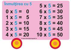 Tabla inmultirii cu 5 Word Search, Education, Math, Words, School, Mathematics, Schools, Math Resources, Educational Illustrations