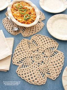 W805 Crochet PATTERN ONLY Pineapple Table Mat like a Trivet Pattern