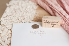 Custom Thank You stamps | Simple Sally