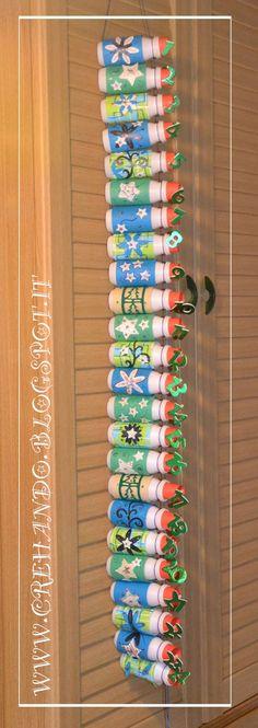 100% recycled advent calendar from creHANDo: Calendario avvento