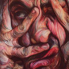 "of the Day - Nikos Gyftakis Saatchi Online Artist: Nikos Gyftakis; ""self portrait""- the state after grading @ the end of the semester . ""self portrait""- the state after grading @ the end of the semester . Nikos Gyftakis, Art Amour, Street Art, Ouvrages D'art, Wow Art, Gcse Art, Arte Pop, Art Plastique, Oeuvre D'art"