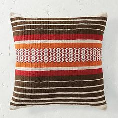 "Granin Road - for deck loungers? These are big! Bailey Stripe Outdoor Throw Pillow - Bailey Stripe Outdoor Pillow (145418): 22"" sq., ½ lbs."