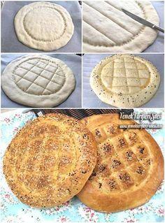 Orjinal Ramazan Pidesi Tarifi Pita Recipes, Bread Recipes, New Recipes, Cookie Recipes, Naan, Cake Decorating Frosting, Savory Tart, Food Garnishes, Ramadan Recipes