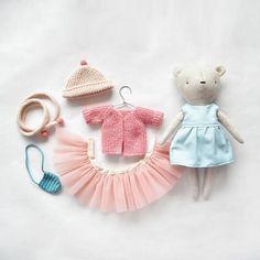 doll dress, as toy clothing, for dress up doll, gift for a girl doll cocktail dress as toy clothing for dress up doll Sewing Toys, Sewing Crafts, Sewing Projects, Doll Dress Patterns, Dress Up Dolls, Handmade Stuffed Animals, Diy Doll, Fabric Dolls, Handmade Toys