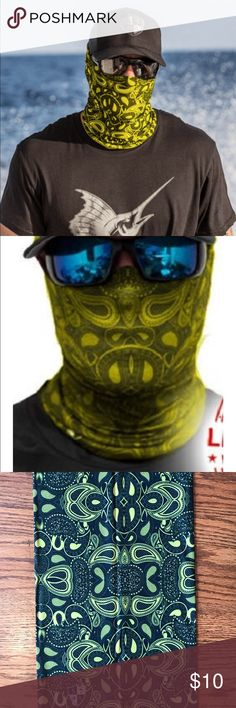 Salt Armour Yellow Paisley Face Shield Sun Mask SA Co. Face Shield™ tubular bandanas offer style and sun protection without weighing you down.   PRODUCT SPECIFICATIONS: Soft, Breathable 100% Polyester Microfiber 100% Seamless 10+ Ways to Wear Repels Moisture SPF40 Stain Resistant Odor Control Protects Against Wind Helps Maintain Hydration Quick-Drying 2-Way Lateral Stretch Product Dimensions: (approx.) 10.5 x 20.5 inches Weight: 1.3 ounces One Size Fits All Adults Machine Washable Air Dry Do…