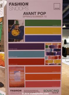 color palette for the spring summer 2015 Avant Pop fashion trend forecast as seen on The Key To Chic