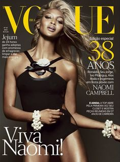6d0dcc56d2a40 Naomi Campbell-Vogue magazine cover  Brazil  (May 2013) Naomi Campbell,