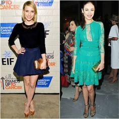 Emma Roberts in Kate Spade vs. Olga Kurlyenko in Elie Saab  Click through to vote!