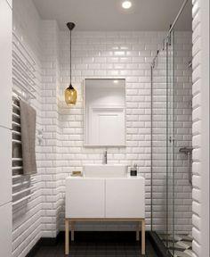 salle de bain vasque design carrelage mur idée