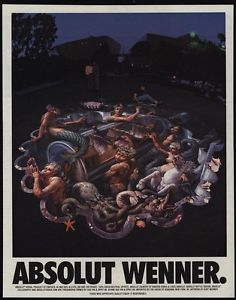 Image is loading 1996-ABSOLUT-WENNER-Art-By-KURT-WENNER-Absolut-
