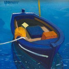 """igormaglica: """" Lin Pattullo (b. 1949), Floating Alone, 2000. oilon canvas, 15 x 15 cm """""""
