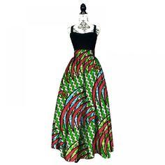 2017 Fashion Women African Print Long Skirt Ankara Dashiki High Waist A Line Maxi Long Umbrella Skirt Ladies Clothing BRW - Hot Products Long Umbrella, Umbrella Skirt, African Dresses For Women, African Women, African Wear, African Attire, Long Maxi Skirts, African Print Fashion, Time 7
