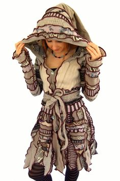 Hey, I found this really awesome Etsy listing at https://www.etsy.com/listing/192564707/patchwork-fairy-coat-stripe-pixie-medium