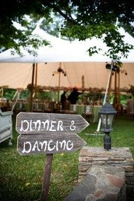 Dinner and Dancing Wedding Signs 2 Directional by TRUECONNECTION