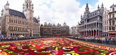 Grand Place with Flower Carpet