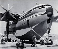 The Saunders-Roe Princess was a British flying boat aircraft built by Saunders-Roe, based in Cowes on the Isle of Wight. The Princess was the largest all-metal flying boat ever constructed. Sea Plane, Float Plane, Amphibious Aircraft, Old Planes, Experimental Aircraft, Flying Boat, Commercial Aircraft, Civil Aviation, Aircraft Design