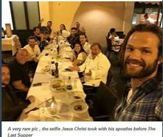 Supernatural: A rare picture of Jesus taking a selfie before the Last Supper.