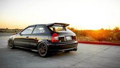 1999 Honda Civic, Honda Civic Hatchback, Jdm Cars, Motor Car, Awesome, Vehicles, Black, Hamster Wheel, Autos