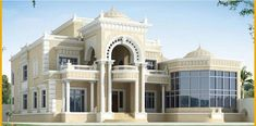 Home Room Design, Dream Home Design, Classical Architecture, Residential Architecture, Classic House Design, Village House Design, House Elevation, Dream House Exterior, Modern House Plans