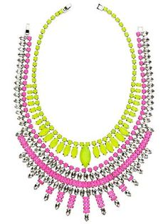 Make a Neon Statement- Ann Taylor necklaces