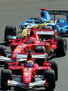 Start Felipe Massa leads Michael Schumacher and Fernando Alonso