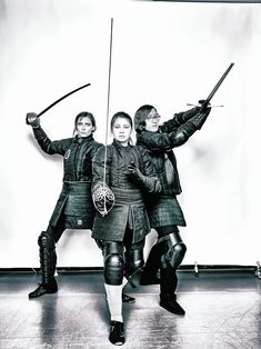 From left: Laura McBride, Tanya Smith, Deena Sadek - Historical European Martial Arts, or HEMA, fighters, part of a small circle of women who battle in ancient disciplines including German longsword, rapier, saber, and sword and buckler. They practice at the New York Historical Fencing Association (NYHFA) in East Harlem, where male fighters outnumber the women four to one. #NYC