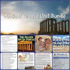 This Ancient Greece Unit Bundle includes 14 teaching resources for an amazing, interactive visually-engaging unit on the Ancient Greeks! Lesson plans include 4 PowerPoints, readings, a project, quiz and test! Great way to save time and create an awesome unit for your classes!