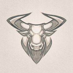 Mascot design // Client W. Animal Sketches, Animal Drawings, Cool Drawings, Art Sketches, Mascot Design, Logo Design, Design Design, Taurus Bull Tattoos, Hand Logo