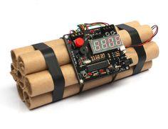 Defuse a Bomb Alarm Clock Novelty Dynamite Styled Digital Clock Movie props in Home & Garden, Home Décor, Clocks   eBay
