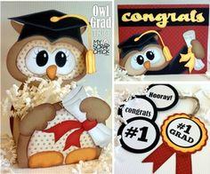 Owl Graduation Trio: click to enlarge