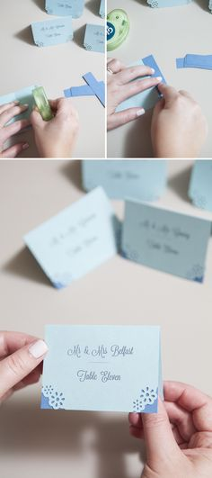 How to make your own simple escort cards, scrapbook style!
