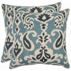 Safavieh Dylan Pillow, Multiple Colors, Set of 2, Blue