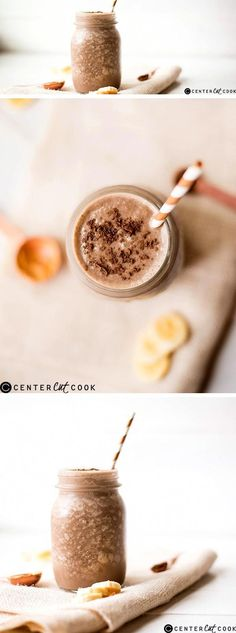 Healthy Chocolate Peanut Butter Smoothie – add coffee and cinnamon to this Raspberry Smoothie, Apple Smoothies, Smoothie Drinks, Healthy Smoothies, Smoothie Recipes, Smoothies Coffee, Healthy Drinks, Nutribullet Recipes, Healthy Eats