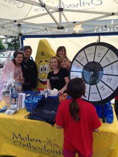 Thanks from Molen Orthodontics to everyone who attended the Fun Run this morning! Buy this Prize Wheel at http://PrizeWheel.com/products/tabletop-prize-wheels/tabletop-black-clicker-prize-wheel-12-slot/.