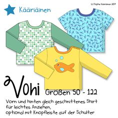 Näähglück by Sophie Kääriäinen: Freebooks & Schnittmuster - Site Title Sewing Kids Clothes, Sewing For Kids, Baby Sewing, Diy Clothes, Ag Clothing, Clothing Patterns, Upcycled Clothing, Diy Projects For Kids, Diy For Kids
