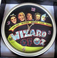 Wizard of Oz LARGE Retro Movie Poster Wall Clock in Original Box!