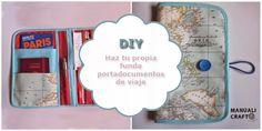 Manualicraft - Costura creativa: Funda portadocumentos de viaje. Tutorial Travel Kits, Baby Sewing, Travel Advice, Ideas Para, Little Ones, Sewing Projects, Patches, Diy Crafts, Boss