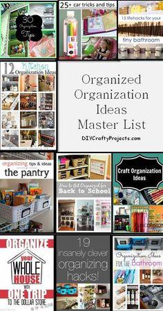 Organized Organization Ideas