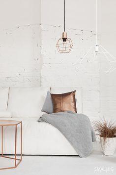 © smallbigidea.com copper and rose gold interior.