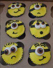 Dairy free minion cupcakes