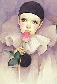 Pierrot by Mira Fujita Illustrations, Illustration Art, Princesas Disney Dark, Clown Paintings, Pierrot Clown, Send In The Clowns, Rock Painting Designs, Carnival Themes, Romantic Pictures
