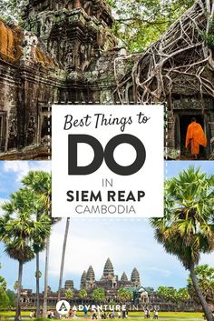 Things to do in Siem Reap Cambodia   Planning a trip to Cambodia? Siem Reap is more than just exploring the temples of Angkor Wat. Check out this list and get some travel inspiration.: