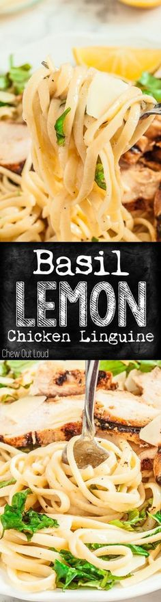 Lemon Basil Chicken Linguine 30 minutes is all it takes. Your peeps will adore minutes is all it takes. Your peeps will adore this. Lemon Basil Chicken, Lemon Pasta, Chicken Basil Pasta, Healthy Chicken Pasta, Giada De Laurentiis, Chicken Linguine, Chicken Piccata, Pesto, Fettucine Alfredo