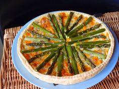 Asparagus, cheese and onion tart